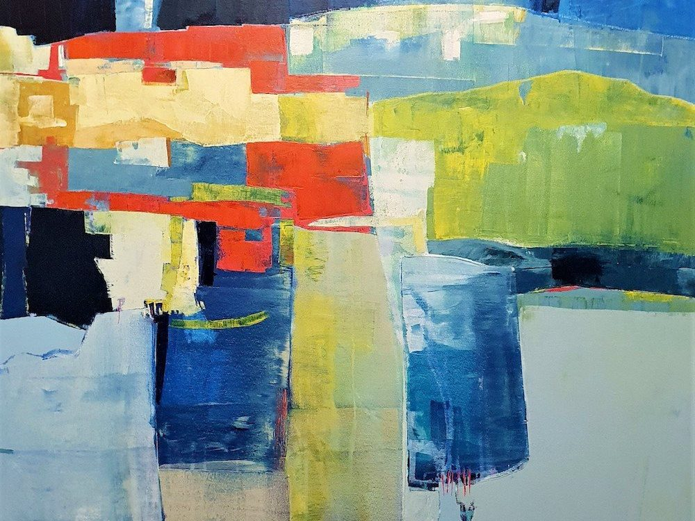 our Journey. by Heather Duncan 104x104cm £2995